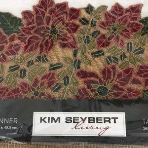 Kim Seybert Designer Holiday Beaded Table Runner